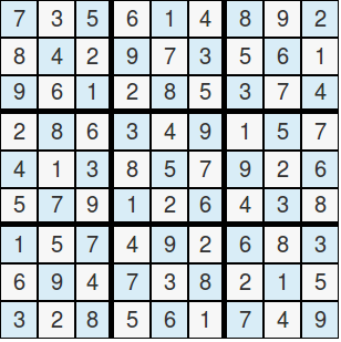 Sudoku Solved,get the result