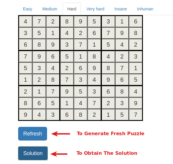 Sudoku Generator with Solution